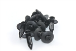 8mm Black Plastic Screw Rivets Scrivets Interior / Exterior