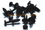 5mm Black Plastic Screw Rivets Scrivets Interior / Exterior