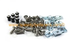 Suzuki GSX-R 750 1986-1987 Full Stainless Fairing & Screen Bolt Clip Wellnut Kit New
