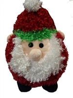 Patchwork Pet Santa Poof 6""