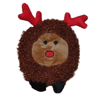 Patchwork Pet Reindeer Poof 6""