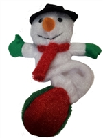 Patchwork Pet Snowman Tennis Ball 10""