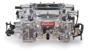 EDELBROCK THUNDER SERIES AVS 650 CFM CARBURETOR, OFF-ROAD SQUARE-FLANGE, MANUAL CHOKE (NON-EGR)  - 1825