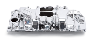 EDELBROCK PERFORMER 2-0 (NON-EGR) MANIFOLD FOR 296-502 B/B CHEVY V8- ENDURASHINE FINISH  - 21614