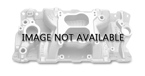 EDELBROCK PERFORMER AIR-GAP (NON-EGR) MANIFOLD FOR SMALL-BLOCK CHEVY V8- BLACK FINISH - 26013