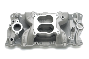 EDELBROCK PERFORMER AIR-GAP (NON-EGR) MANIFOLD FOR 1987-95 CAST IRON HEADS FOR SMALL-BLOCK CHEVY V8  - 2604