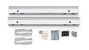 EDELBROCK ALUMINUM FUEL RAILS FOR SMALL-BLOCK CHEVY (FOR USE WITH #29785 AND STANDARD INJECTORS) 3/8 NPT INLET  - 3630