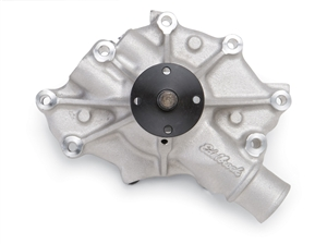 EDELBROCK HIGH PERFORMANCE WATER PUMP FOR 1993-97 FORD 5.0/ 5.8L V8 F-SERIES TRUCKS- SATIN FINISH  - 8045