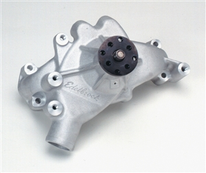 EDELBROCK HIGH PERFORMANCE LONG WATER PUMP FOR B/B CHEVY- SATIN FINISH  - 8851