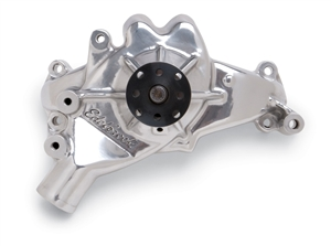 EDELBROCK HIGH PERFORMANCE LONG WATER PUMP FOR B/B CHEVY- POLISHED FINISH  - 8861