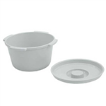 Lumex 7-Quart Commode Pail and Lid - Each