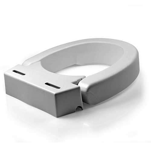 Hinged Elevated Toilet Seat Riser 3\
