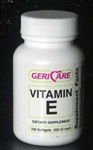 Geri Care Vitamin E 200 IU Softgels Bottle of 100