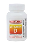 Geri Care Vitamin D 400 IU Tablets Bottle of 100
