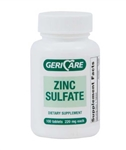 Geri Care Zinc Sulfate 220 mg Tablets Bottle of 100