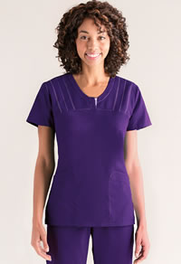 Grey's Anatomy V-Neck Placket Scrub Top #41408