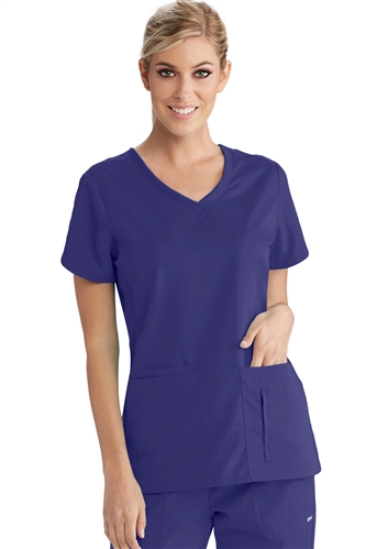 Grey S Anatomy Active V Neck Top With Side Panels 41423