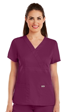 Grey's Anatomy Scrubs #4153 3 Pocket Mock Wrap - Jr. Fit