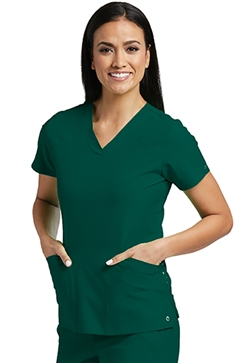 Barco One Women's 4 Pocket Sport Scrub Top #5106