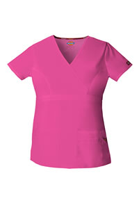 Dickies Scrubs Junior Fit Mock Wrap Top