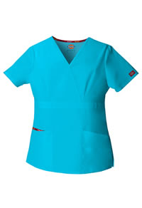 Dickies Scrubs EDS Missy Fit Mock Wrap Top