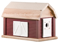 Barn Birdhouse | Cedar | Handcrafted by Boulder Bay Birdhouse | Made in USA