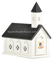 Church Birdhouse | Cedar | Handcrafted by Boulder Bay Birdhouse | Made in USA