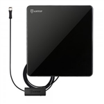 Antop AT-206B Flat Panel Indoor UHF/VHF TV Antenna - Built In 4G LTE Filter - Smart Pass Amplifier