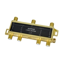 ANTOP, AT-708, 6-way 2GHz DC Pass Splitter for TV Antenna and Satellite