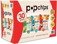 POP CHIPS VARIETY PACK (SINGLE SERVE) BOX OF 30