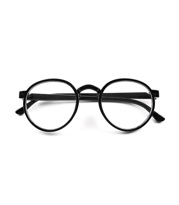 Clear Lens/Black Round Glasses