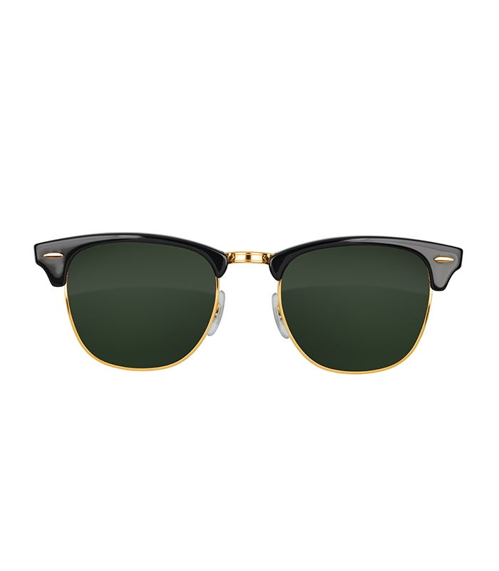 Retro Sunglasses In Black and Gold
