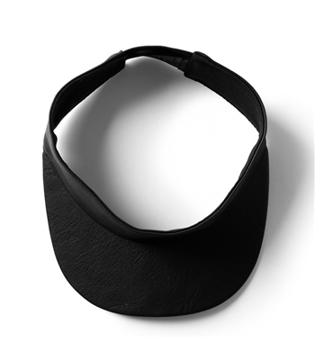 Black Leather Visor