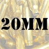 20mm once fired brass cases for reloading