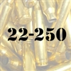 22-250 once fired brass cases for reloading