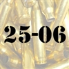 25-06 once fired brass cases for reloading
