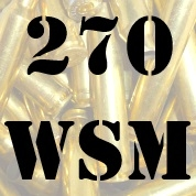 270 WSM once fired brass cases for reloading