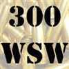 300 WSW once fired brass cases for reloading