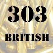 303 British once fired brass cases for reloading