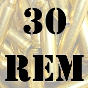 30 Rem once fired brass cases for reloading