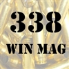 338 Win Mag once fired brass cases for reloading