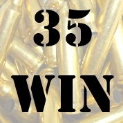 35 Win once fired brass cases for reloading
