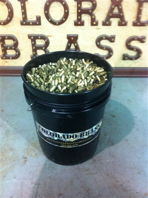 40 Cal S&W Once Fired Brass Cases 5 Gallon Bucket