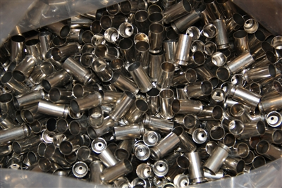 40 S&W Nickel Only once fired brass cases for reloading