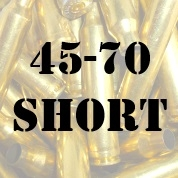 45-70 Short once fired brass cases for reloading
