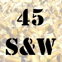45 S&W Schofield once fired brass cases for reloading