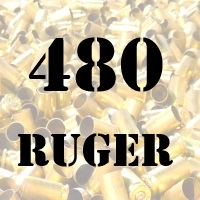 480 Ruger once fired brass cases for reloading