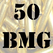 50 BMG once fired brass cases for reloading