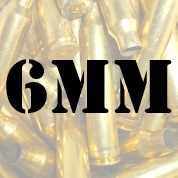 6mm once fired brass cases for reloading