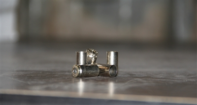 9mm Nickel Only once fired brass cases for reloading